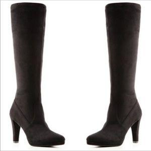 Tahari Danton 6M wide calf black heeled boots